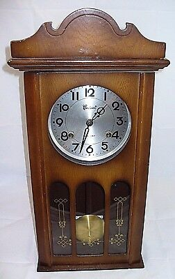 Vintage Centurion 35 Day Pendulum Chiming Wall Clock With Issue(s) with key