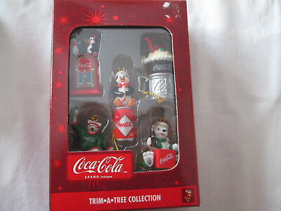 New 1997 Coca Cola Trim A Tree Collection Set of 5 Ornaments Penguins Bears MIB