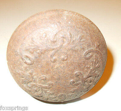 Vintage Steel Door Knob Ornate With Shaft     -  - MIS576