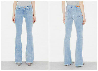 MIH BODYCON MARRAKESH JEANS MORE BLUE HIGH RISE SLIM KICK FLARE NWT $240 25