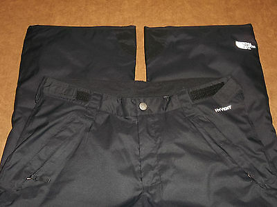 North Face Ski Snow Pants Freedom Insulated Hyvent Black Girl's Xl 18 ~Excellent