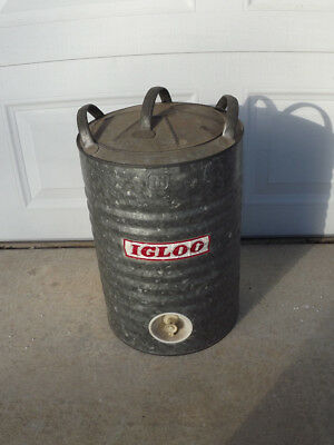 Vintage 5 Gallon Galvanized Igloo Water Cooler