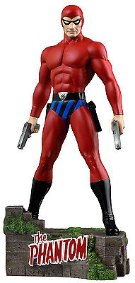 "THE PHANTOM: The Ghost Who Walks - 12"" Red Suit Variant Statue (Ikon) #NEW"