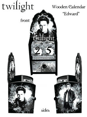TWILIGHT - Perpetual Wooden Calendar ~ Edward (NECA) #NEW