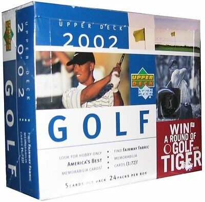 GOLF - 2002 Upper Deck Trading Cards Hobby Box (Sealed) #NEW