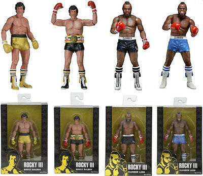 """ROCKY - Rocky III 40th Anniversary 7"""" Action Figure Set (4) by NECA #NEW"""