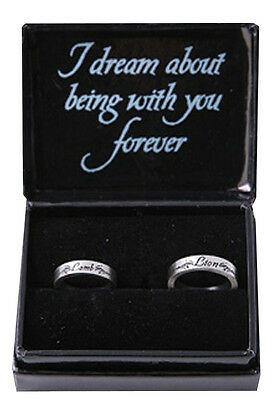 TWILIGHT - Lion & Lamb Boxed Jewellery Pewter Ring Set (NECA) #NEW
