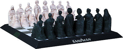 THE SANDMAN ~ Cold-Cast Porcelain Chess Set (DC Comics) #NEW