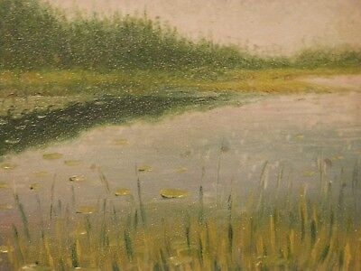 OLD antique Impressionist Fine Art OIL PAINTING vintage Landscape artwork signed