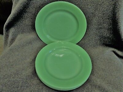 "Fire King Jadeite Restaurant Ware 9"" Plates (4) MINT Heavy"