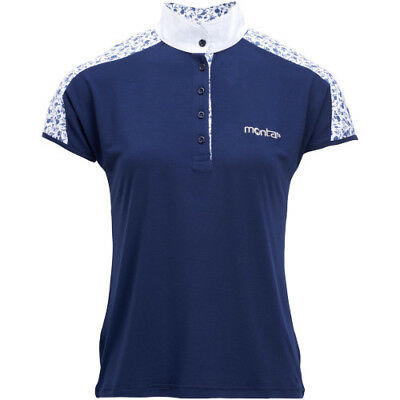 Montar Sarah Flower Womens Shirt Competition - Navy All Sizes