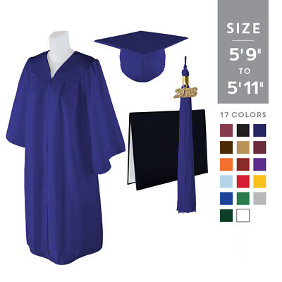 "Standard Matte Graduation Cap and Gown with Matching 2018 Tassel - Size  5'9""-5'"