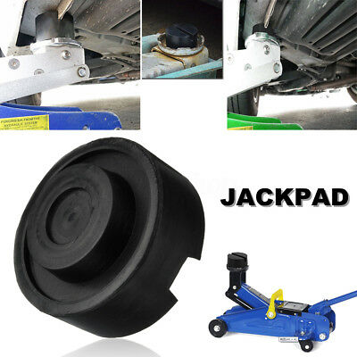 Slotted Frame Rail Floor Jack Disk Rubber Pad Black For Pinch Weld Side JACKPAD