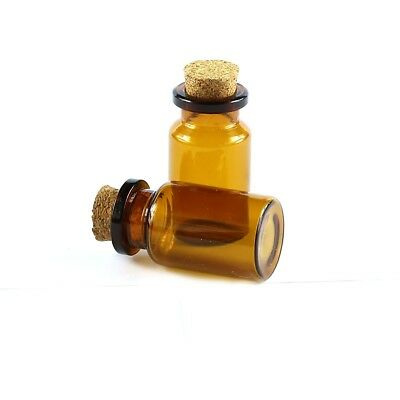 Wholesale 30Pcs 10ML Glass Bottles Small Cork Stopper Glass Vial Jars Container
