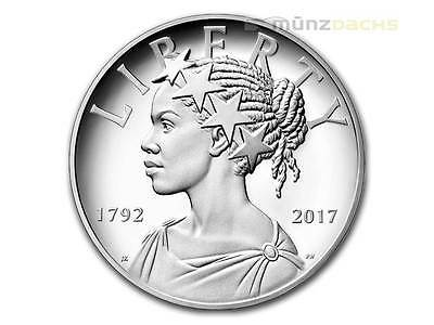 225th Anniversary U.S. Mint American Liberty High Relief USA 1 oz Silber PP 2017