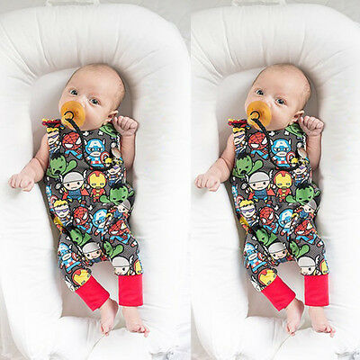 Newborn Infant Baby Boy Summer Playsuit Jumpsuit Romper Outfits Bodysuit Clothes