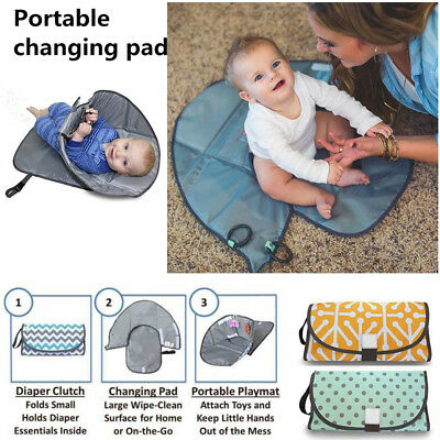 3-in-1 Diaper Clutch Pad Waterproof Portable Clean Hands Baby Diaper Changing