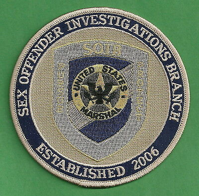 U.s. Marshal Sex Offender Investigations Branch Police Patch