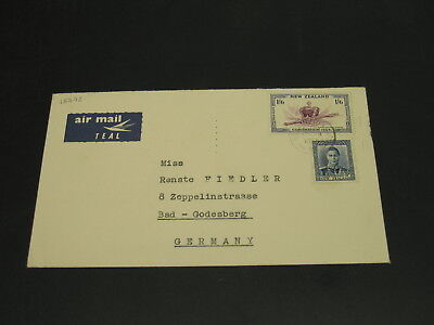 New Zealand 1954 airmail cover to Germany *18792