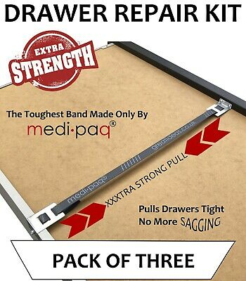 * DRAWER DOCTOR x3 * - Repair / Fix / Mend Broken Drawers with X-TRA STRONG Band