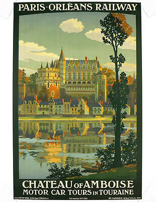 CHATEAU OF AMBOISE, Original Travel Poster, Constant Duval, 1922