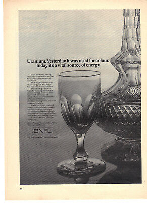 1980 vintage print ad BNFL British Nuclear Fuels Uranium for Nuclear Power
