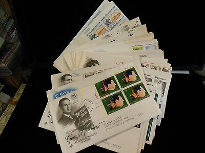 Lot Of  30   Plate Blocks     Us Stamp First Day Covers      Addressed