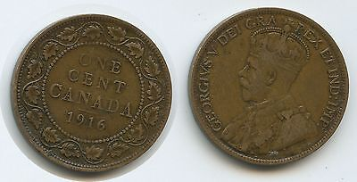 G6534 - Kanada One Cent 1916 KM#21 George V.1910-1936 Canada