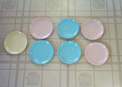 "Lot of Vintage 50s 60s Imperial Ware Speckle Speckled - 3 Plates 6"" + 4 Saucers"