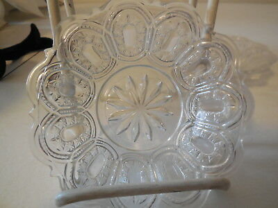 Lot of Six Antique Pattern Glass,  EAPG Sauce Dishes, Bowls, NR