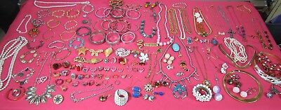 Large Lot of Estate Costume Jewelry Approx 130 Pieces