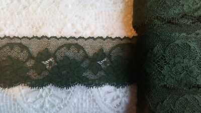 Made In Britain Cluny Cotton Lace Green Olive Edging Vogue Haute Couture Dresses