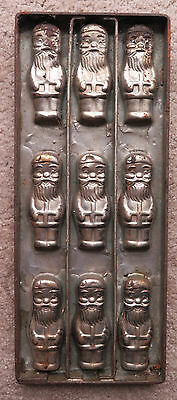 Vintage Cast Iron Santa Claus Chocolate Candy Mold 9 pack sheet