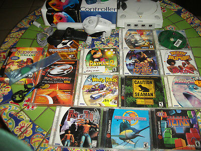 Sega Dreamcast SYSTEM-NES GAMES-FISHING ROD-GAMESHARK- NEW CONTROLLERS-SEAMAN++
