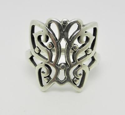 James Avery Retired Sterling Silver Open Butterfly Ring Size 6.75 -  Lb-C1842