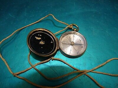 antique Brass Compass Made in France Works  WWI ?  WWII?