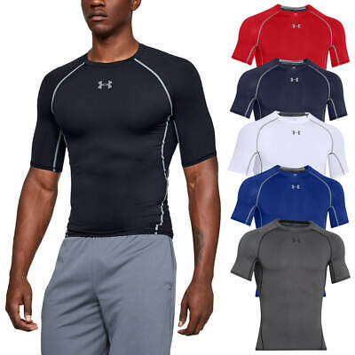 Under Armour Mens UA HeatGear Armour SS Compression Shirt Base Layer T