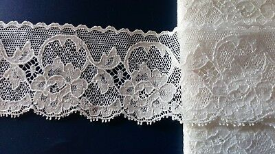 White Traditional Cluny Cotton Lace Edging Wedding Bridal Dress Basque Corset