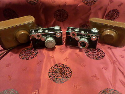 lot of 2 argus cameras cintar 50mm lens camera lot with case