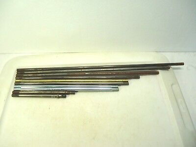 """Lot of 10 Vintage 3/8"""" Lamp Center Rods Salvaged Parts 6 1/4"""" to 21 1/2"""" Upcycle"""