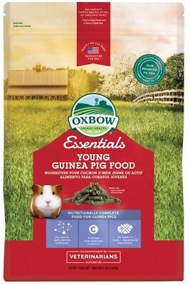 Oxbow Essentials Young Guinea Pig Food 5lb Bag. **Free Shipping**