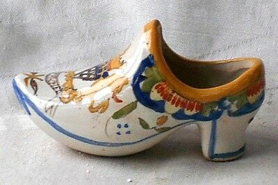 Boulogne French Faience Shoe With A Coat Of Arms