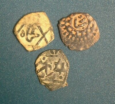 Lot Of Three Ancient Islamic Coins To Identify