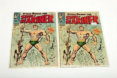 Lot of 2 Marvel Silver Age Sub-Mariner Comic Books