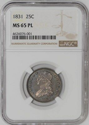 1831 Capped Bust Quarter 25c Small Letters B-4 R.1 MS65 PL NGC