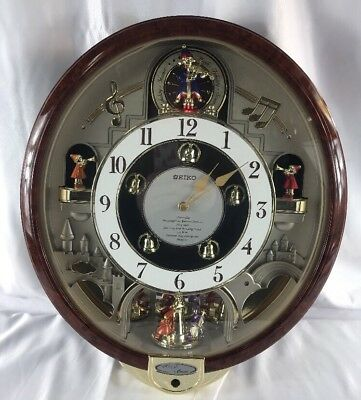 Seiko Melodies In Motion Musical Wall Clock Plays 7 BEATLES Songs QXM109ZRH