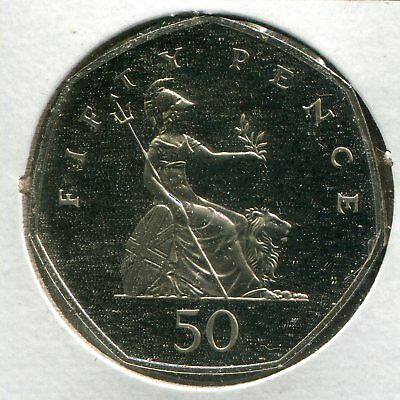 1992 Great Britain 50 Pence Proof KM-940.1