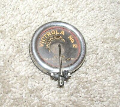 Great Antique Victor Victrola No.2 Phonograph Reproducer Disk Talking Machine