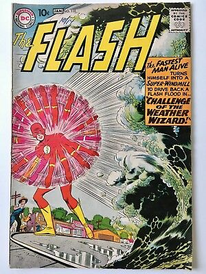 THE FLASH 110 First Appearance of Kid Flash & Weather Wizard! NO RESERVE! L@@K!