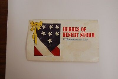 Heroes of Desert Storm $ 5.00 Commemorative Coin Issued by Marshall Islands 1991